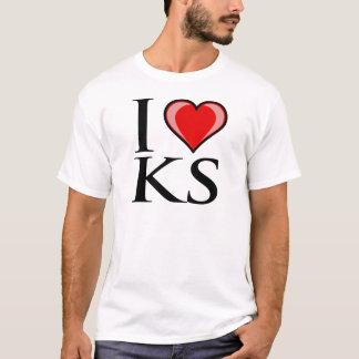 I Love KS - Kansas T-Shirt