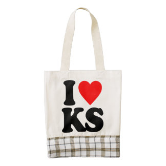 I LOVE KS ZAZZLE HEART TOTE BAG