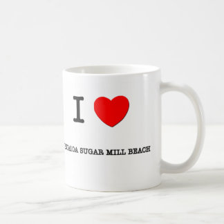 I Love Kualoa Sugar Mill Beach Hawaii Classic White Coffee Mug