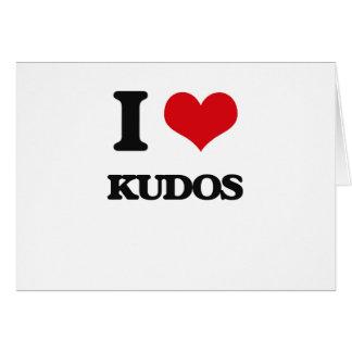 I Love Kudos Greeting Cards