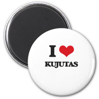 I love Kujutas 2 Inch Round Magnet