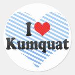 I Love Kumquat Stickers