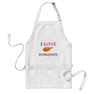 I Love Kumquats Adult Apron