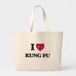 I Love Kung Fu Jumbo Tote Bag