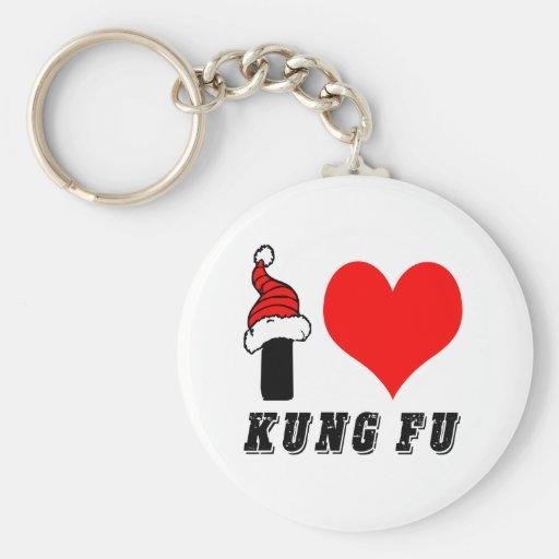 I Love Kung Fu Design Key Chain