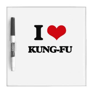 I Love Kung-Fu Dry Erase Board