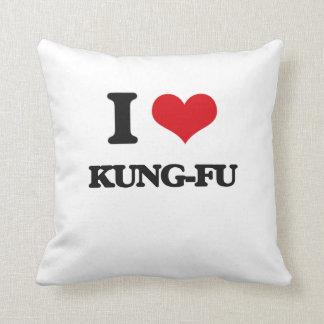 I Love Kung-Fu Throw Pillows
