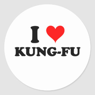 I Love Kung-Fu Stickers