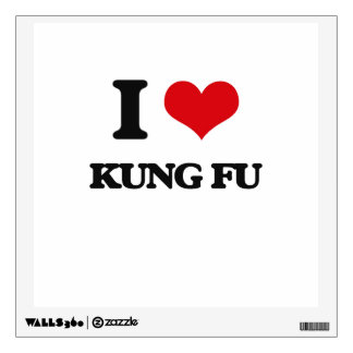 I Love Kung Fu Room Stickers
