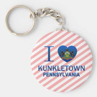 I Love Kunkletown, PA Basic Round Button Keychain
