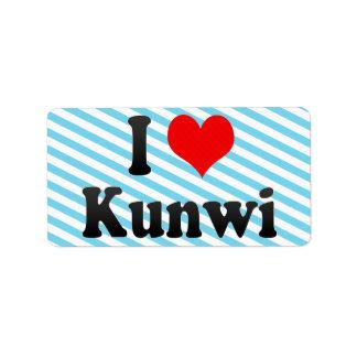 I Love Kunwi, Korea. Naega Salang Kunwi, Korea Label