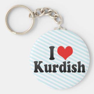 I Love Kurdish Keychain