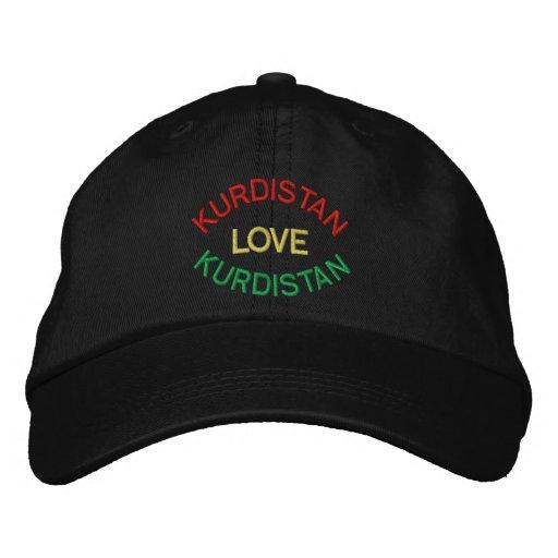 I LOVE KURDISTAN HAT EMBROIDERED HATS