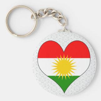 I Love Kurdistan Basic Round Button Keychain