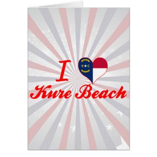 I Love Kure Beach North Carolina Cards