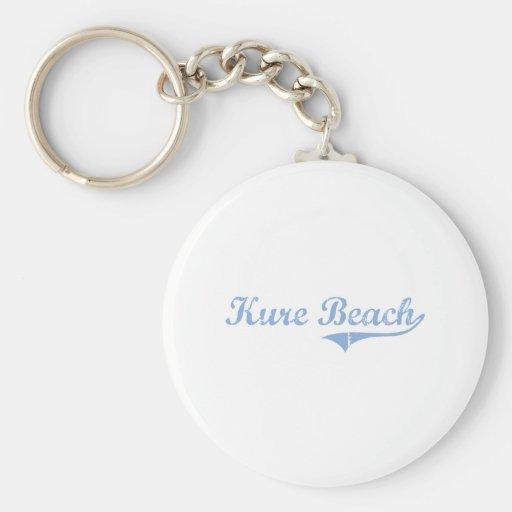 I Love Kure Beach North Carolina Keychains