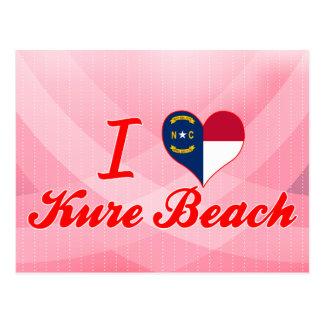 I Love Kure Beach, North Carolina Postcard