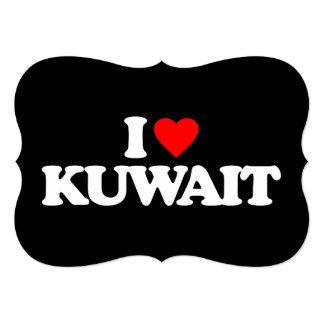 I LOVE KUWAIT 5X7 PAPER INVITATION CARD