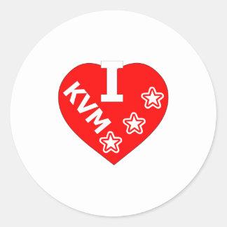 I love KV Maastricht logo 1 Ronde Stickers