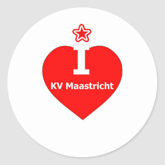 I love KV Maastricht logo 2 Ronde Sticker