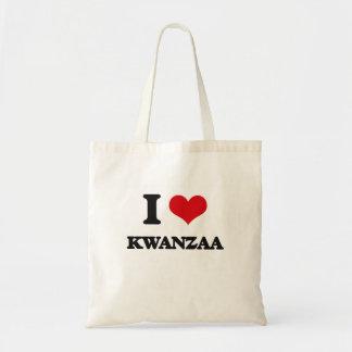 I Love Kwanzaa Canvas Bags