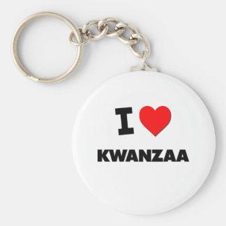 I Love Kwanzaa Basic Round Button Keychain