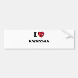 I Love Kwanzaa Car Bumper Sticker