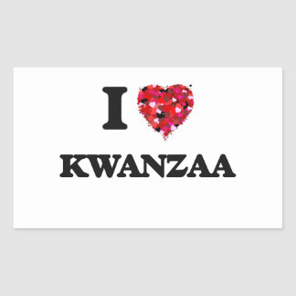 I Love Kwanzaa Rectangular Sticker