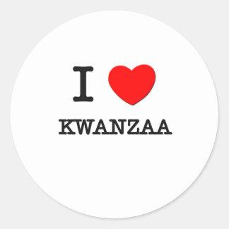I Love Kwanzaa Classic Round Sticker