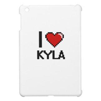 I Love Kyla Digital Retro Design iPad Mini Covers
