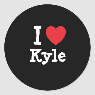 I love Kyle heart T-Shirt Classic Round Sticker