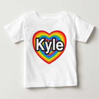 I love Kyle. I love you Kyle. Heart Baby T-Shirt