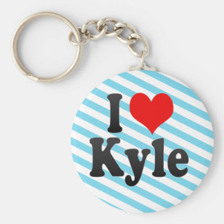 I Love Kyle, United States Basic Round Button Keychain