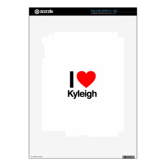 i love kyleigh decal for iPad 2