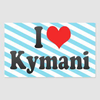 I love Kymani Rectangle Sticker