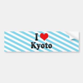 I Love Kyoto, Japan Bumper Sticker