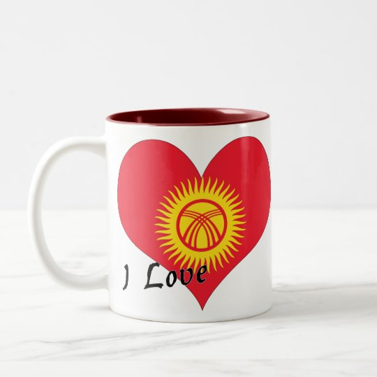 I love Kyrgyzstan Two-Tone Coffee Mug