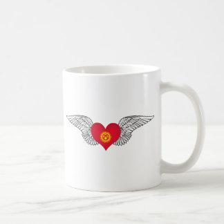 I Love Kyrgyzstan -wings Classic White Coffee Mug
