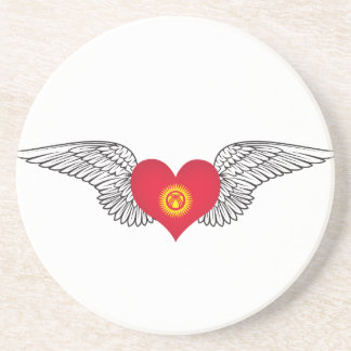 I Love Kyrgyzstan -wings Coaster