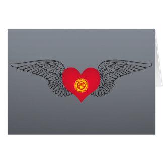 I Love Kyrgyzstan -wings Greeting Card