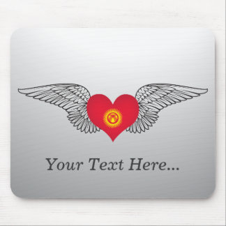 I Love Kyrgyzstan -wings Mouse Pad