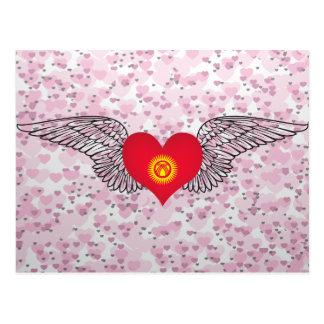 I Love Kyrgyzstan -wings Postcard
