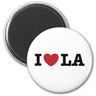 I Love LA 2 Inch Round Magnet