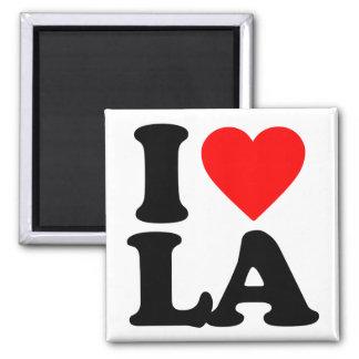 I LOVE LA 2 INCH SQUARE MAGNET