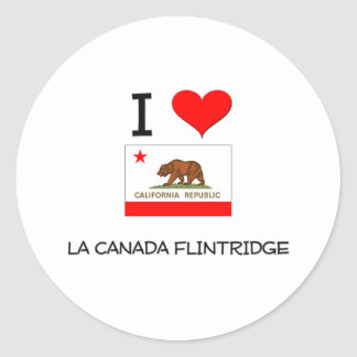 I Love LA CANADA FLINTRIDGE California Sticker