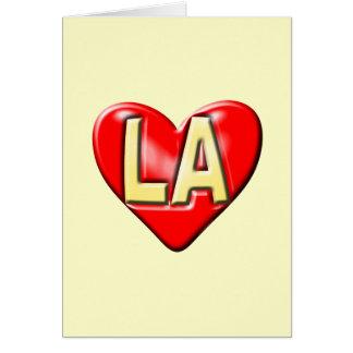 I Love LA Card