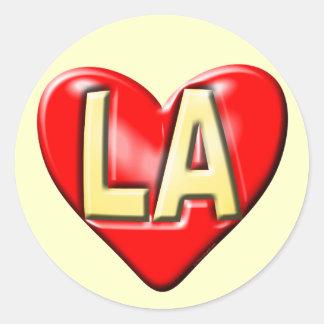 I Love LA Classic Round Sticker