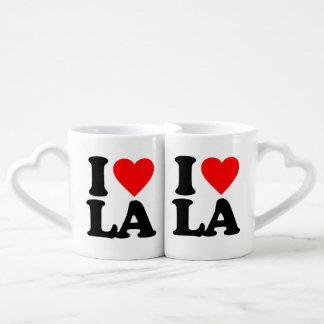 I LOVE LA COUPLES' COFFEE MUG SET