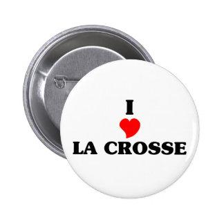 I love La Crosse 2 Inch Round Button