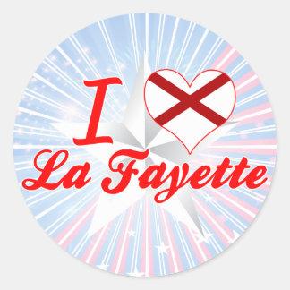 I Love La Fayette, Alabama Classic Round Sticker
